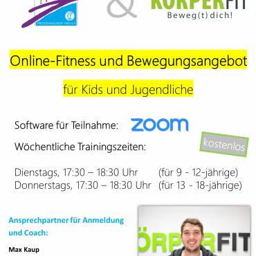 Fitness und Bewegungsangebot für Kids und Jugendliche